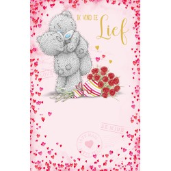 Me To You card gold / glitter